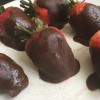 Frozen Chocolate-Dipped Strawberries