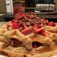 Virtually No-Carb Waffles